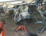 VW T25 engine bay - diesel 1.6 engine removed