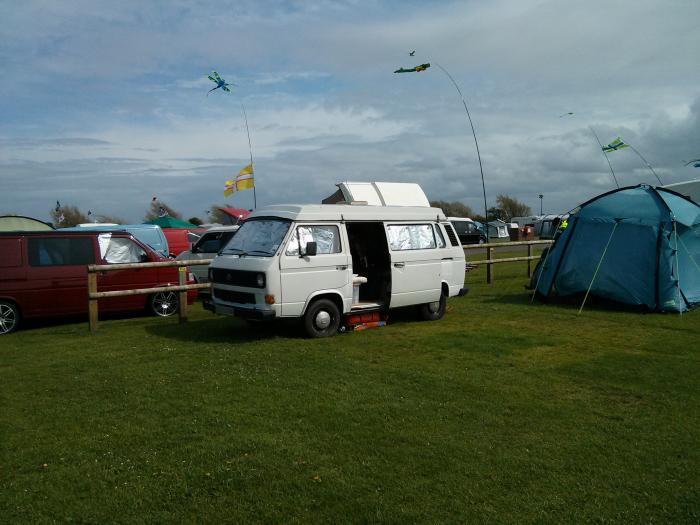 camping in our T25 at vanwest 2013