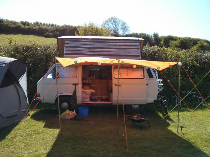 first camping trip in Rocky, our T25 vw campervan
