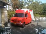 crazy Bedford catering van at Walibi theme park