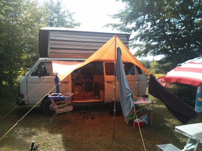 Pitched up at camp de florence