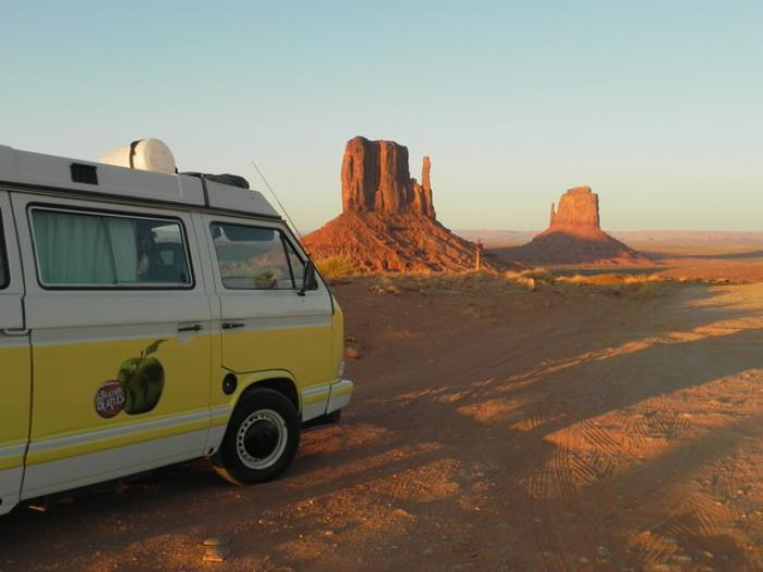 Penny the vw t25 in monument valley