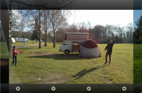 screengrab of photoswipe being used on campervanthings.com