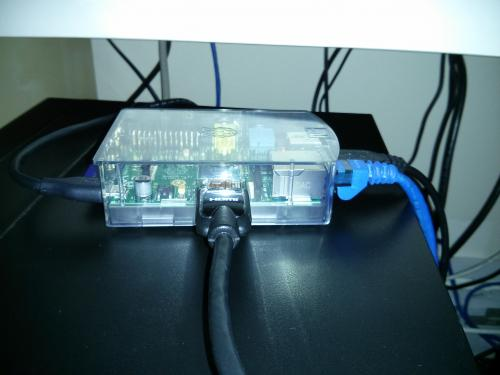 raspberry pi running as low power office server