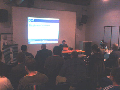 Plone skinning Workshop by Rick Hurst at the Watershed in Bristol