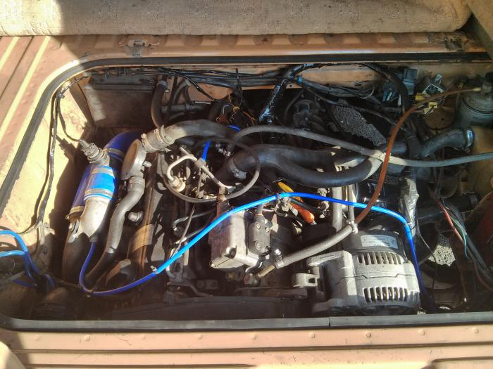 VW 1z tdi engine from a golf mk3 installed in a T25
