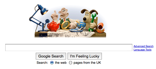 wallace and gromit google doodle
