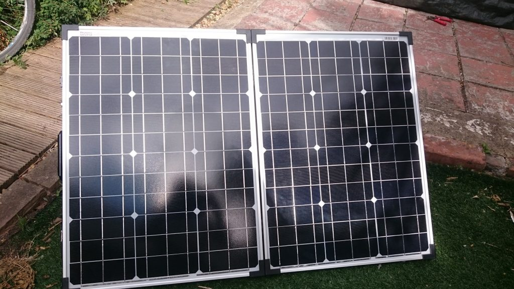 Photonic Universe portable 100 watt solar panel kit